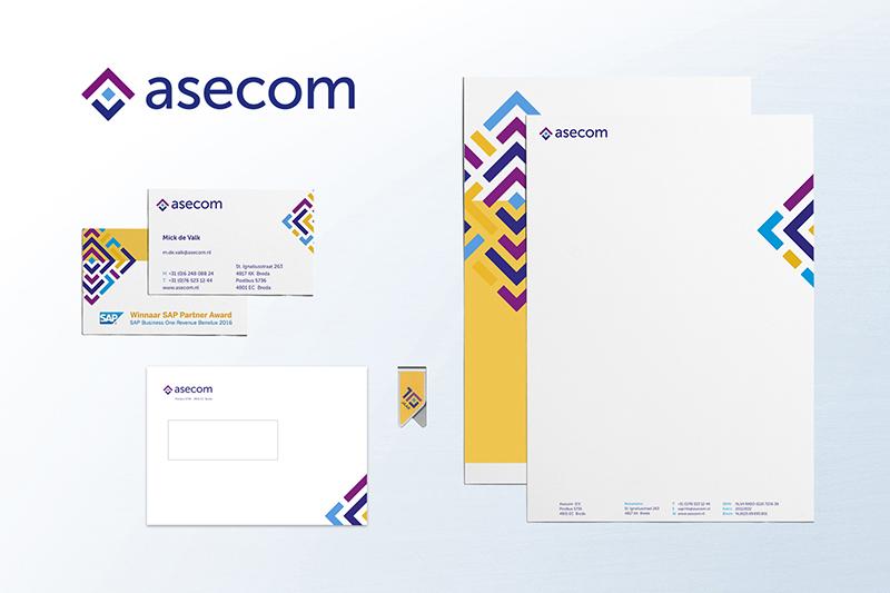 Asecom huisstijl ontwerp