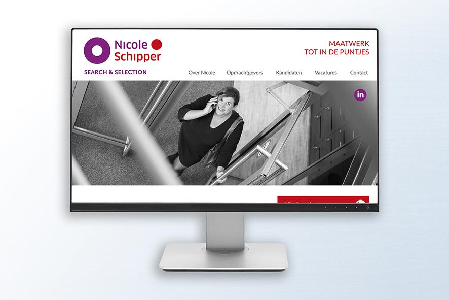 nicole schipper website ontwerp