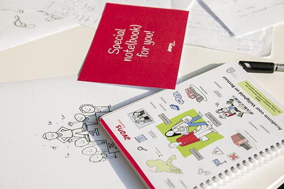 Avans Hogeschool notitieboek stripverhaal